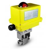 Elektrozawór kulowy 500bar 1/4 cala ss304 siłownik A250