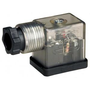 Wtyk elektrozaworu mały DIN 43650B z LED