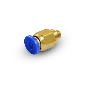 Złączka wtykowa prosta wąż 6mm gwint M5 PC06-M05