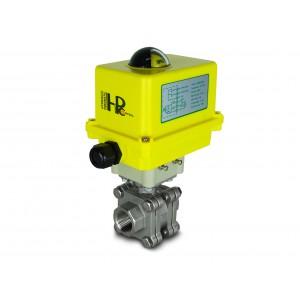 Elektrozawór kulowy wysokociśnieniowy 1 cal DN25 PN125 siłownik A250