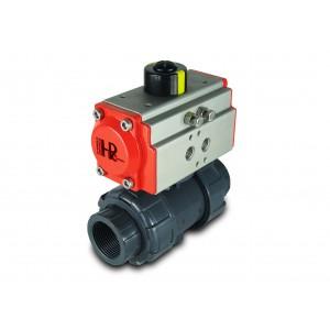 Zawór kulowy UPVC 1 1/2 cala DN40 z siłownikiem pneumatycznym AT52