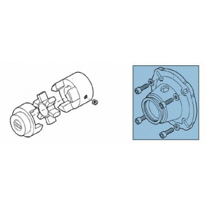 Adapter + sprzęgło zestawu pompowego RO