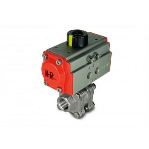 Zawór kulowy wysokociśnieniowy 1 cal DN25 PN125 z siłownikiem pneumatycznym AT52