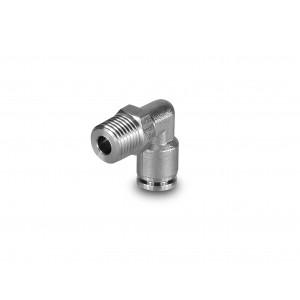 Złączka wtykowa 8mm gwint 1/4 cala nierdzewna kątowa PLSW08-G02 bez oring