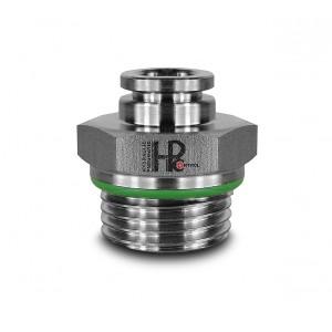 Złączka wtykowa prosta nierdzewna 8mm gwint 3/8 cala PCS08-G03