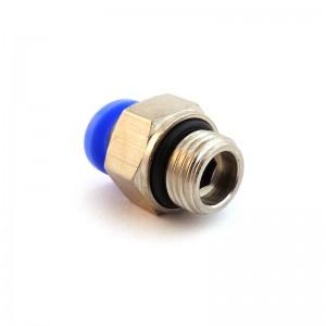 Złączka wtykowa prosta wąż 6mm gwint 3/8 cala PC06-G03