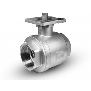 Zawór kulowy nierdzewny 3/4 cala DN20 pod siłownik ISO5211