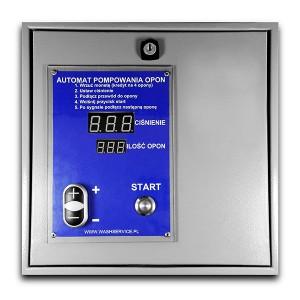 Elektroniczny automat pompowania opon do montażu na ścianie - wersja bezpłatna