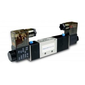 Elektrozawór 5/3 4V230C 1/4 cala do siłowników 230V lub 12V, 24V
