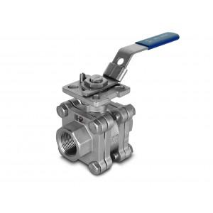 Zawór kulowy wysokociśnieniowy 3/4 cala DN20 PN125 pod napęd ISO5211