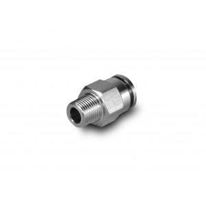 Złączka wtykowa 8mm gwint 1/8 cala nierdzewna prosta PCSW08-G01 bez oring
